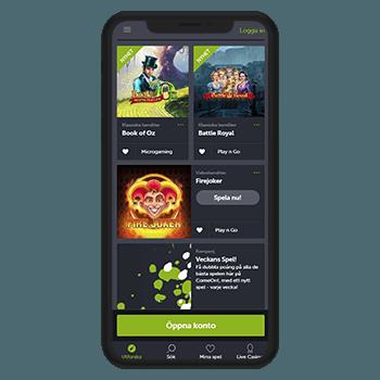 Spela i kasino på mobilen